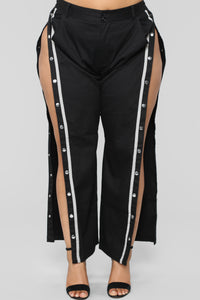 Snap To The Top Pants - Black/Grey Angle 14