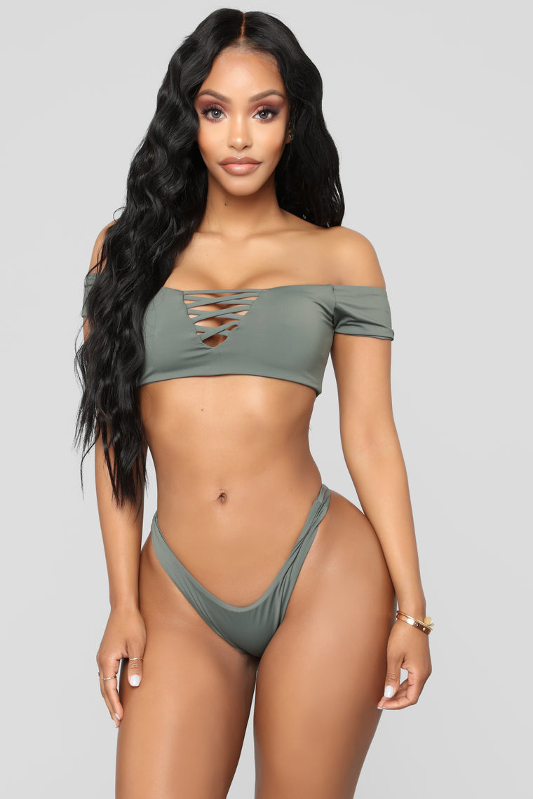 New Wave Bikini - Charcoal
