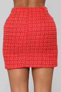 She's A Lady Chain Skirt - Red Angle 6