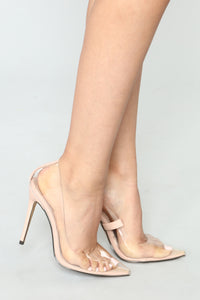 Couldn't Be More Clear Pump - Nude