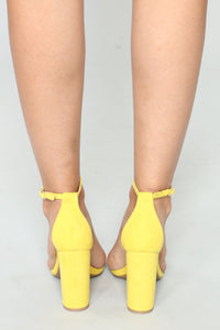 That One Strap Heels - Yellow