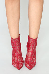 Adjust To The Fame Bootie - Red