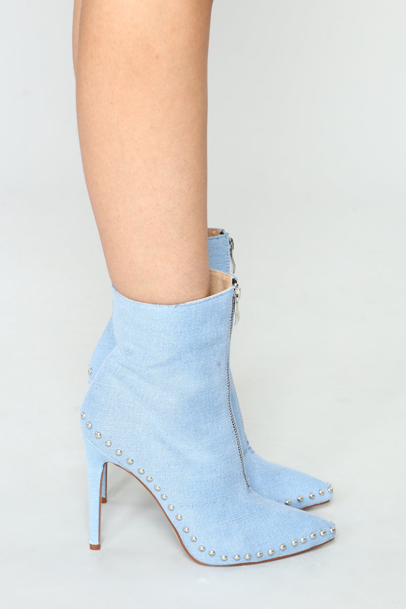 Thoraya Bootie - Light Denim