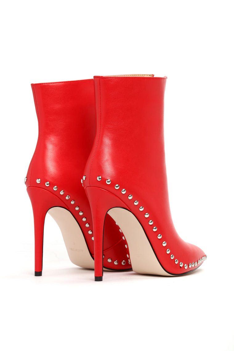 Thoraya Bootie - Red