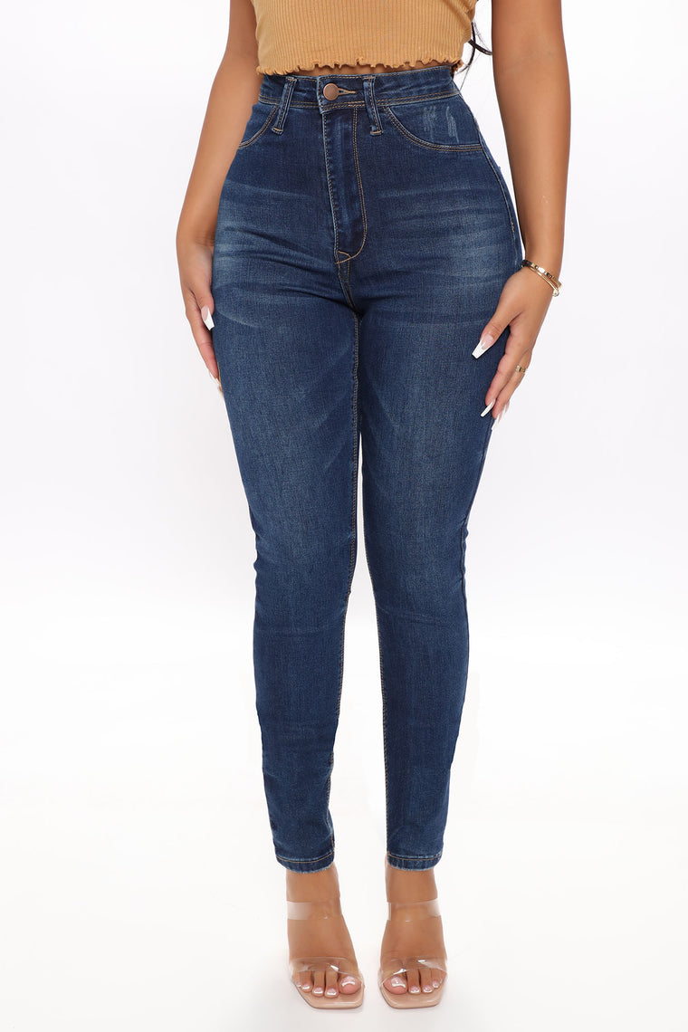 I Can Do Anything Skinny Jeans - Dark Wash