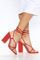 Over And Done Heeled Sandal - Red