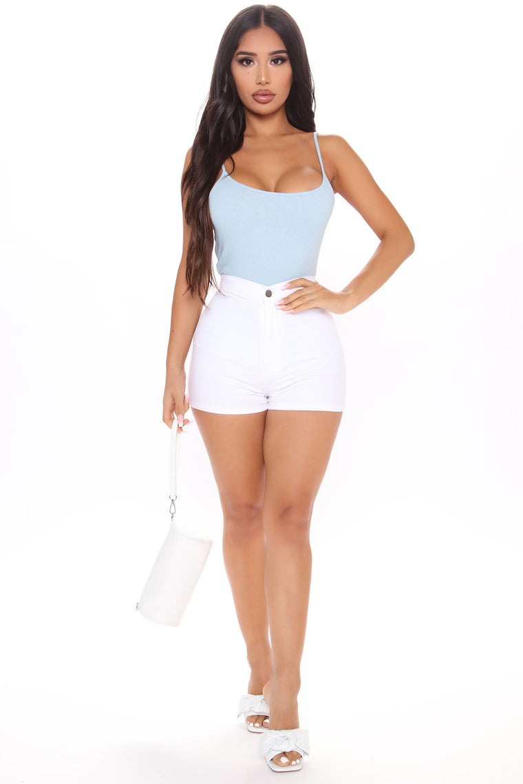 A Scoop Of You Cami Top - Light Blue