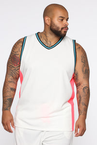 Butler Remix Tank Top - White/combo Angle 6