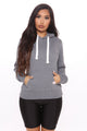 Relaxed Vibe Solid Hoodie - Heather Grey