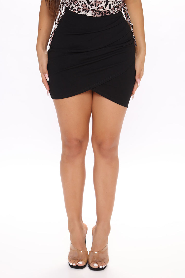 Cater To You Mini Skirt - Black