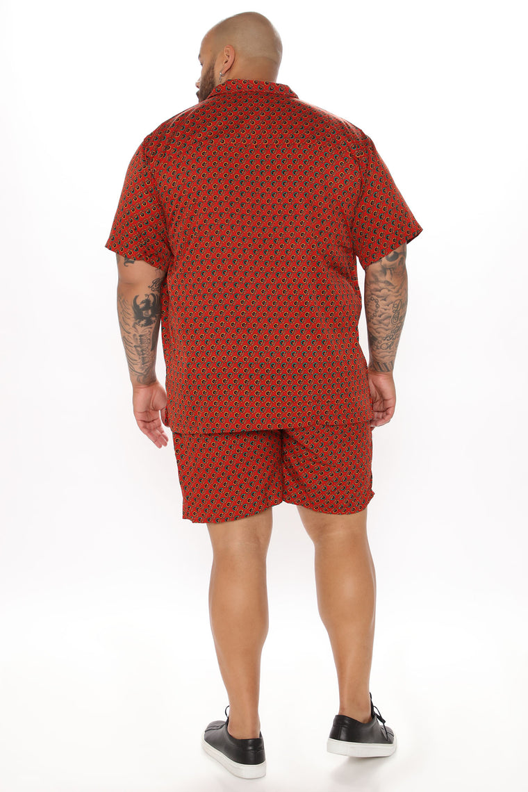 Charleston Short - Red/combo