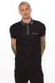Stabler Short Sleeve Polo - Black/Grey