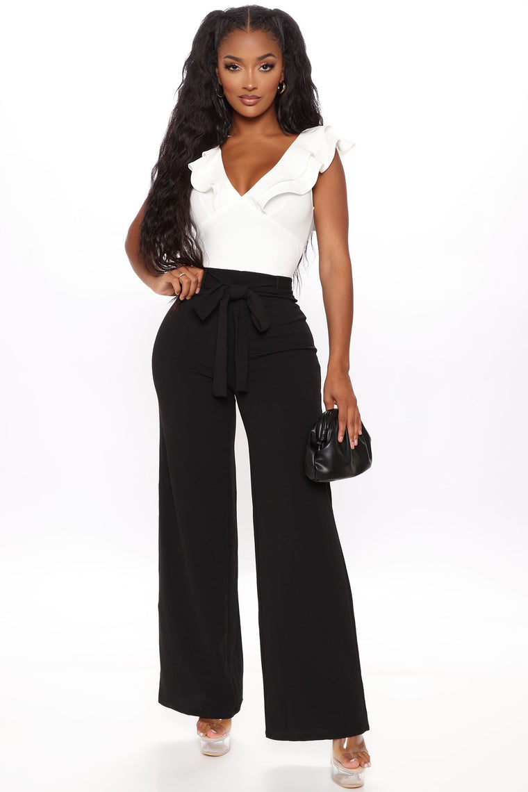 Back To Work Jumpsuit - Ivory/combo