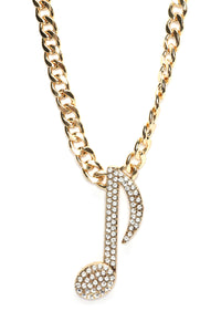 Tune It Out Necklace - Gold