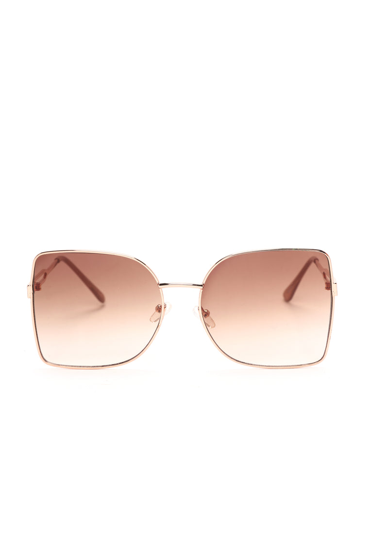 Embrace The Change Sunglasses - Rose Gold