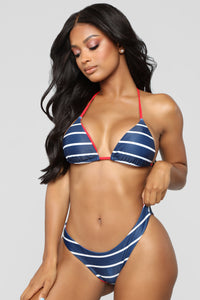 Sailor Jerry Stripe Bikini - Navy/Combo Angle 1