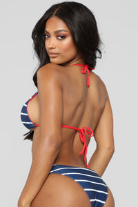 Sailor Jerry Stripe Bikini - Navy/Combo Angle 2