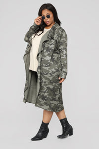 Commander Trench Coat - Olive Angle 7