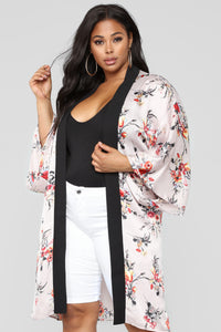 Serenity Floral Kimono - Taupe Combo
