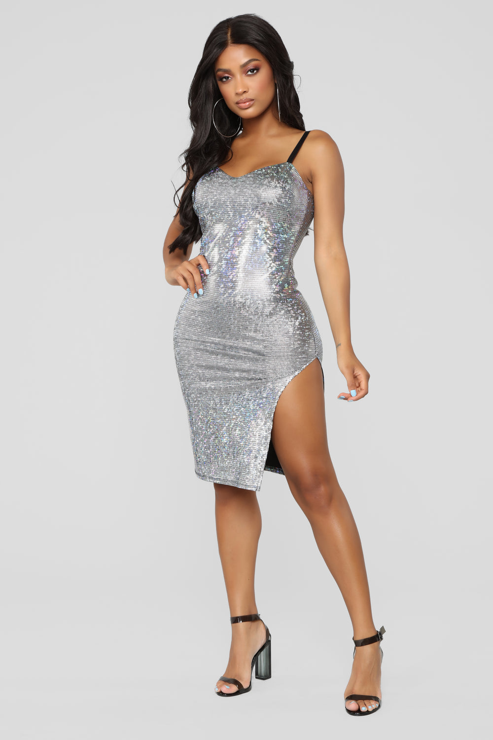 Sun Goes Down Dress - Silver