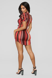 Jammin' Heart Beats Dress - Red/Multi