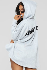 Do Not Disturb Hoodie - Heather Grey
