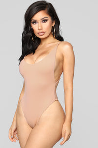 Making An Impact Thong Swimsuit - Blush