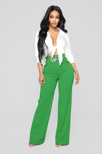 Anna Grace Pants - Green