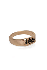 Leo Astrology Ring - Gold