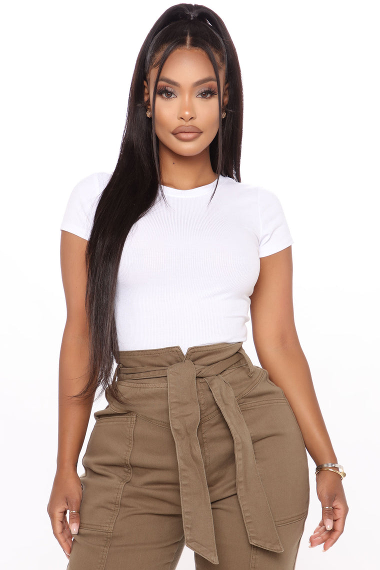 Cece Crop Top - White