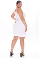 Small Talking Wrap Skirt Set - White