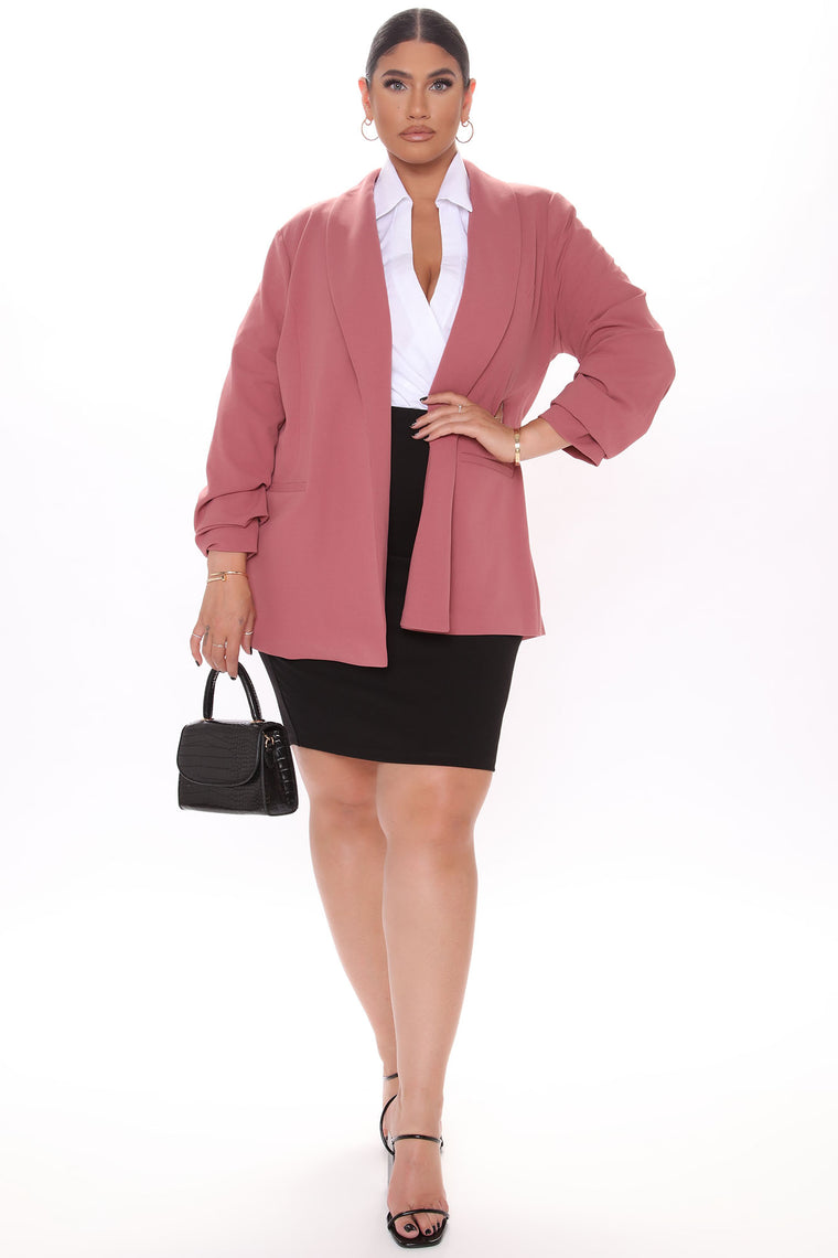 The Celine Blazer - Mauve