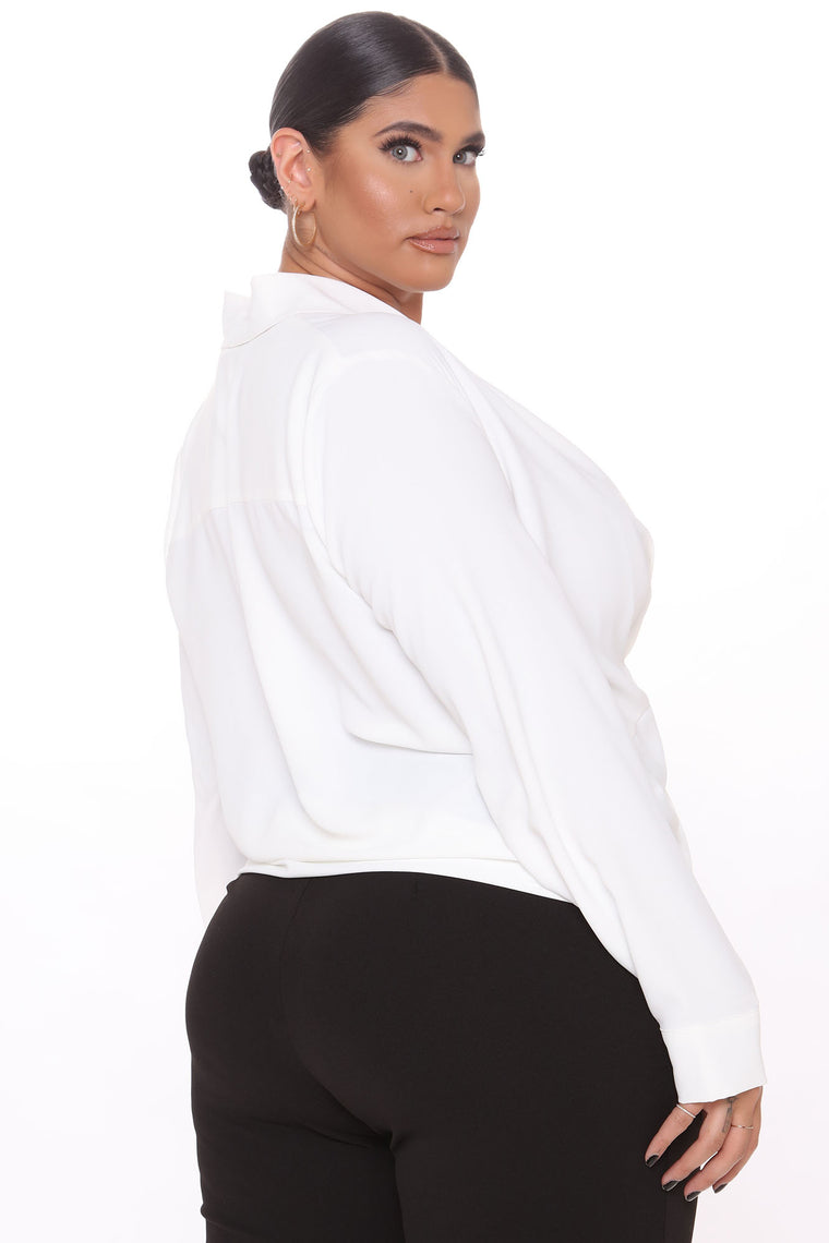 Woman In Command Top - White