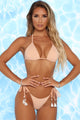Shell In Love 2 Piece Shell Bikini - Nude