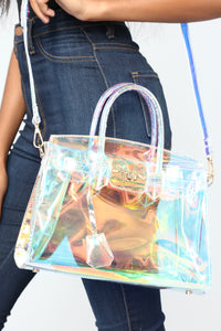 Next Level Holographic Bag - Clear