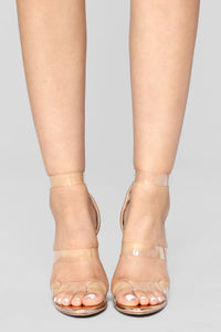 Rosy Clear Heel - Rose Gold Angle 3