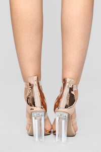 Rosy Clear Heel - Rose Gold Angle 5