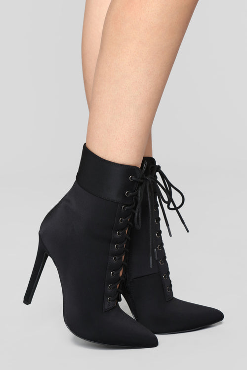 Shine Bright Booties - Black