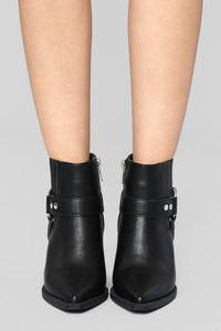 Saddle Up Bootie - Black Angle 3