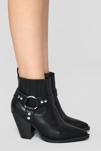Saddle Up Bootie - Black Angle 5