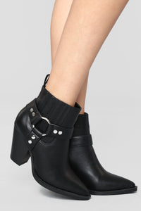 Saddle Up Bootie - Black Angle 1