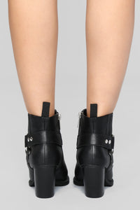 Saddle Up Bootie - Black Angle 6