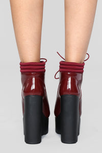The More The Better Bootie - Burgundy