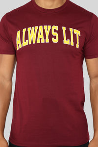 Lit University Tee - Deep Red