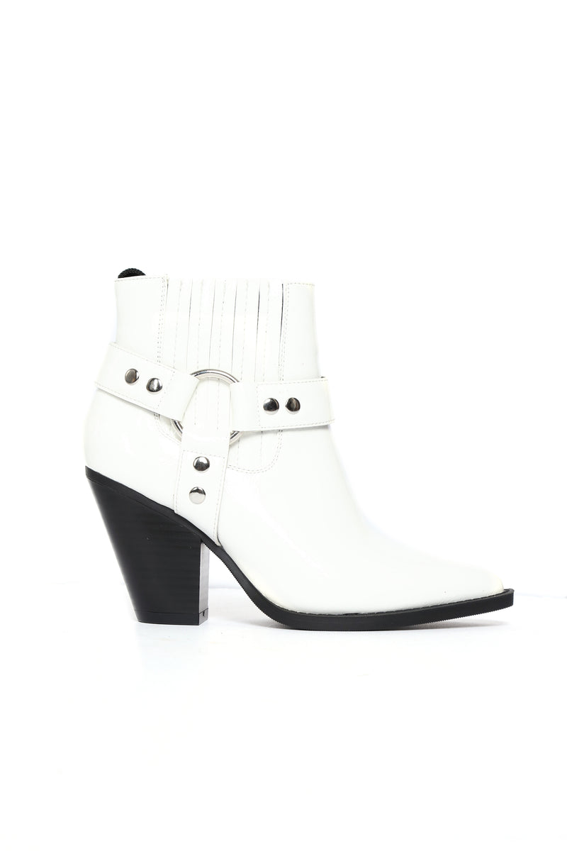 Saddle-Up Bootie - White