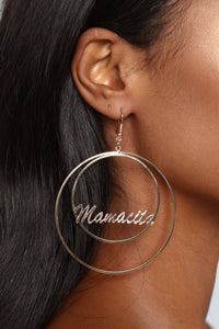 The Only Mamacita Hoop Earrings - Gold