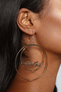 The Only Baby Girl Hoop Earrings - Gold
