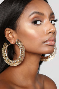Weave In Hoop Earrings - Gold