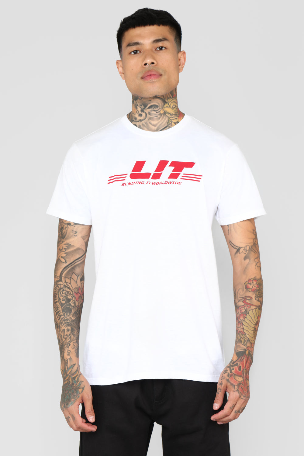 Lit International Tee - White