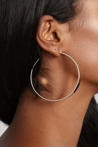 Stay Sharp Earrings - Silver Angle 1